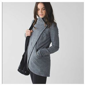 Lululemon 10 That's A Wrap Heathered Snow Sweater